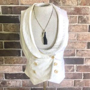 BCBG MaxAzria fitted vest